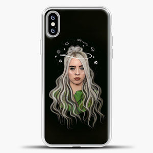 Billie Eilish Case Background iPhone XS Max Case, White Plastic Case | casedilegna.com
