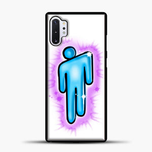 Billie Eilish Blohsh Logo White Samsung Galaxy Note 10 Plus Case, Black Plastic Case | casedilegna.com