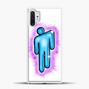 Billie Eilish Blohsh Logo White Samsung Galaxy Note 10 Plus Case, White Plastic Case | casedilegna.com