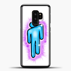 Billie Eilish Blohsh Logo White Samsung Galaxy S9 Case, Black Plastic Case | casedilegna.com