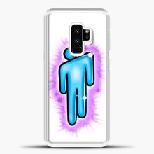 Load image into Gallery viewer, Billie Eilish Blohsh Logo White Samsung Galaxy S9 Case, White Plastic Case | casedilegna.com