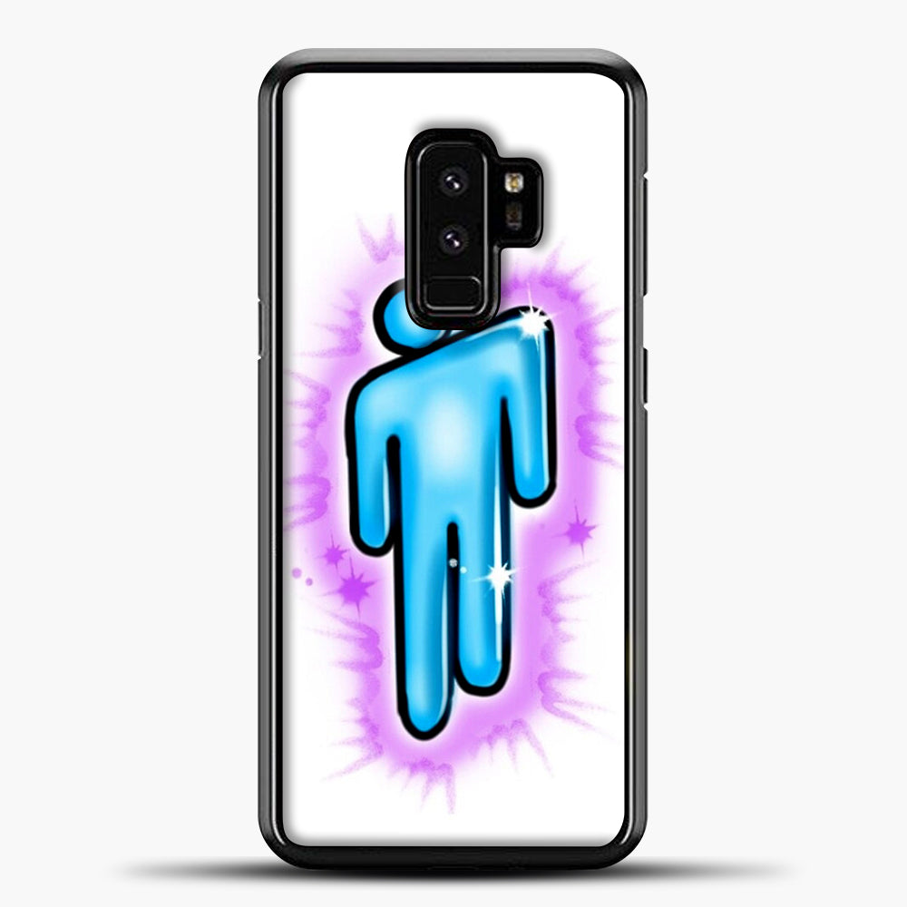 Billie Eilish Blohsh Logo White Samsung Galaxy S9 Plus Case, Black Plastic Case | casedilegna.com
