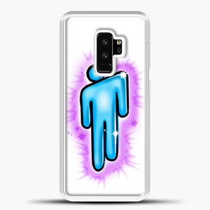 Billie Eilish Blohsh Logo White Samsung Galaxy S9 Plus Case, White Plastic Case | casedilegna.com