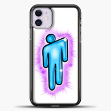 Load image into Gallery viewer, Billie Eilish Blohsh Logo White iPhone 11 Case, Black Plastic Case | casedilegna.com