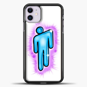 Billie Eilish Blohsh Logo White iPhone 11 Case, Black Plastic Case | casedilegna.com