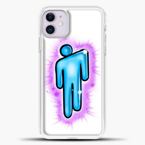 Billie Eilish Blohsh Logo White iPhone 11 Case, White Plastic Case | casedilegna.com