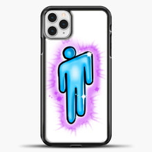 Load image into Gallery viewer, Billie Eilish Blohsh Logo White iPhone 11 Pro Case, Black Plastic Case | casedilegna.com