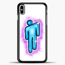 Load image into Gallery viewer, Billie Eilish Blohsh Logo White iPhone X Case, Black Plastic Case | casedilegna.com
