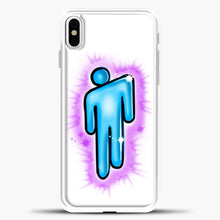 Load image into Gallery viewer, Billie Eilish Blohsh Logo White iPhone X Case, White Plastic Case | casedilegna.com