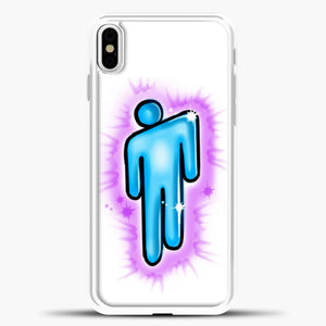 Billie Eilish Blohsh Logo White iPhone X Case, White Plastic Case | casedilegna.com