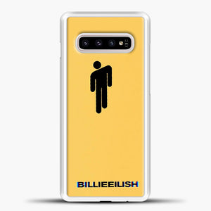 Billie Eilish Blohsh Yellow Samsung Galaxy S10e Case, White Plastic Case | casedilegna.com