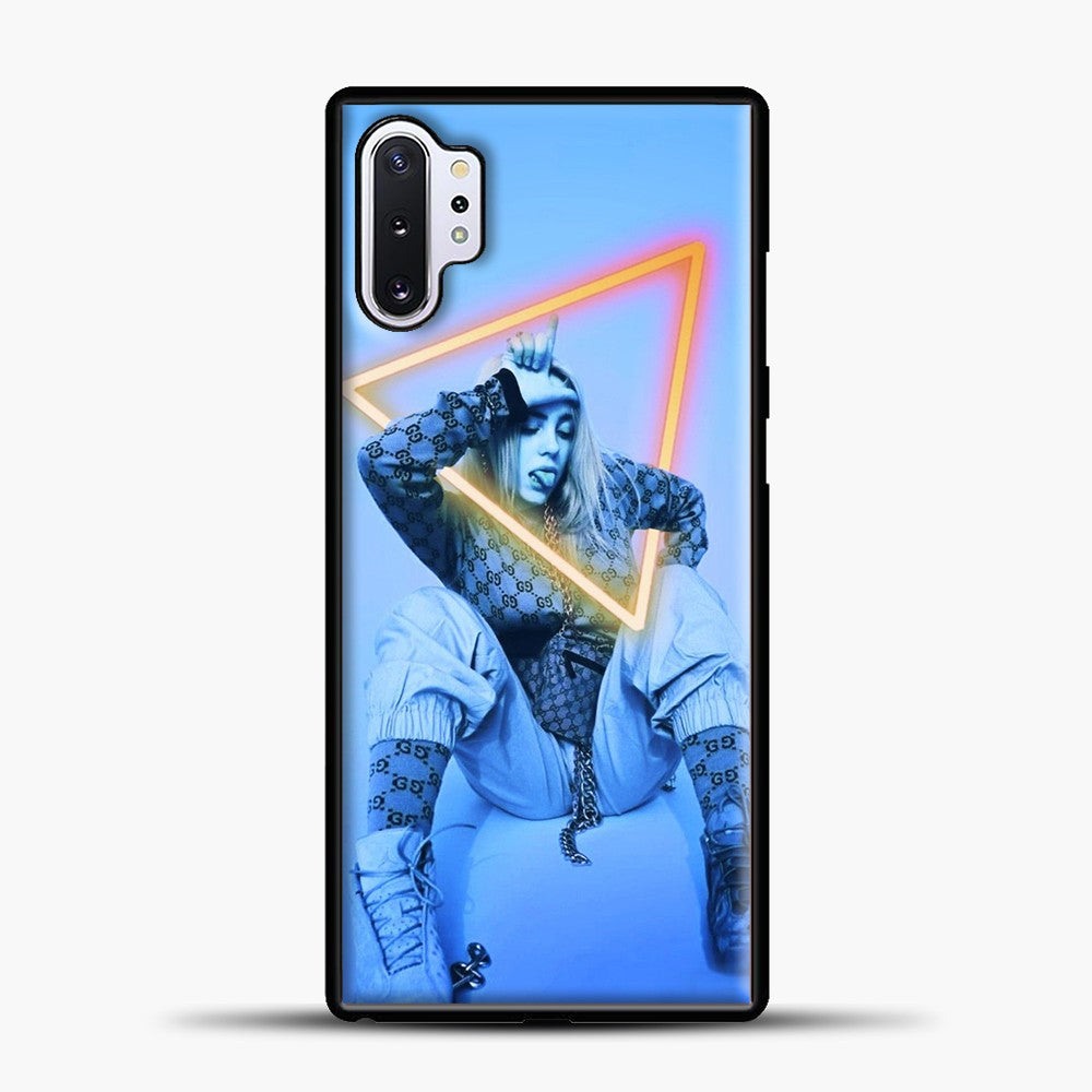 Billie Eilish Blue Background Samsung Galaxy Note 10 Plus Case, Black Plastic Case | casedilegna.com
