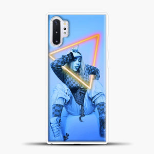 Billie Eilish Blue Background Samsung Galaxy Note 10 Plus Case, White Plastic Case | casedilegna.com