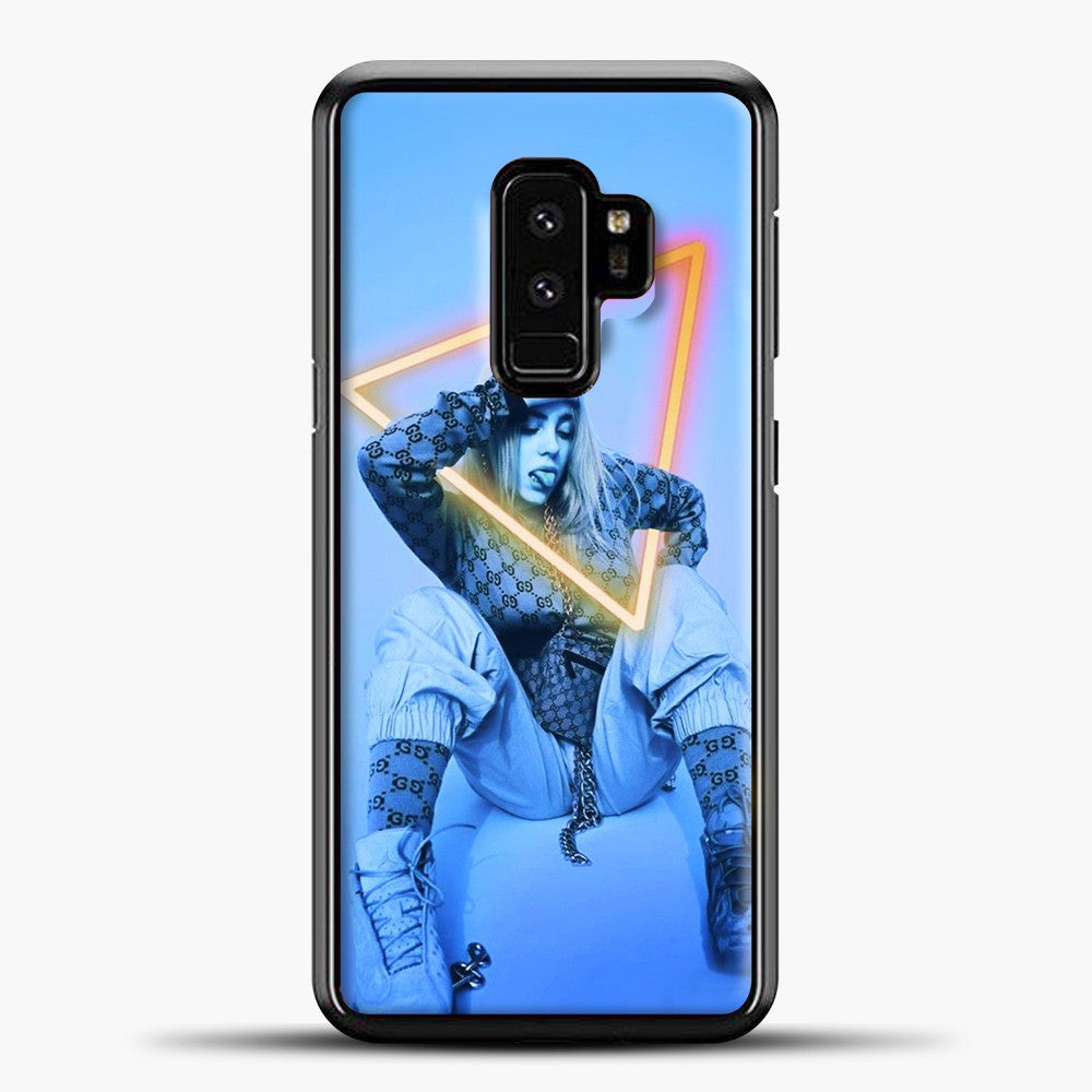 Billie Eilish Blue Background Samsung Galaxy S9 Case, Black Plastic Case | casedilegna.com
