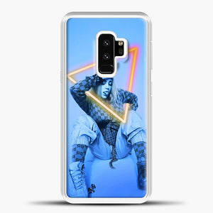 Billie Eilish Blue Background Samsung Galaxy S9 Case, White Plastic Case | casedilegna.com