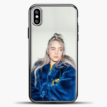 Load image into Gallery viewer, Billie Eilish Blue Jacket iPhone XS Case, Black Plastic Case | casedilegna.com