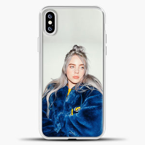 Billie Eilish Blue Jacket iPhone XS Case, White Plastic Case | casedilegna.com