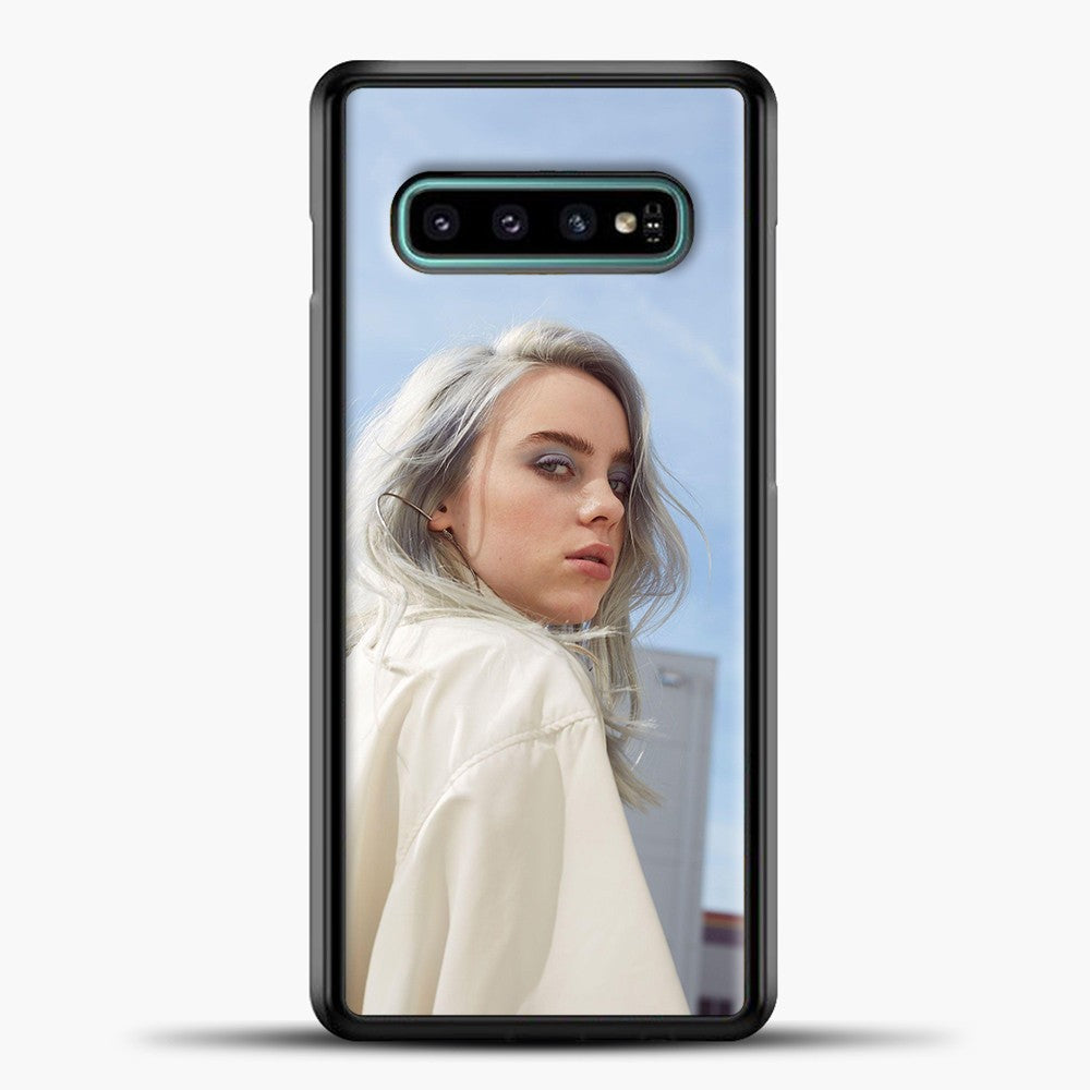 Billie Eilish Blue Sky Samsung Galaxy S10e Case, Black Plastic Case | casedilegna.com