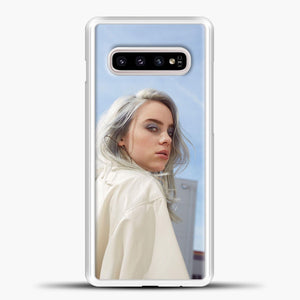 Billie Eilish Blue Sky Samsung Galaxy S10e Case, White Plastic Case | casedilegna.com