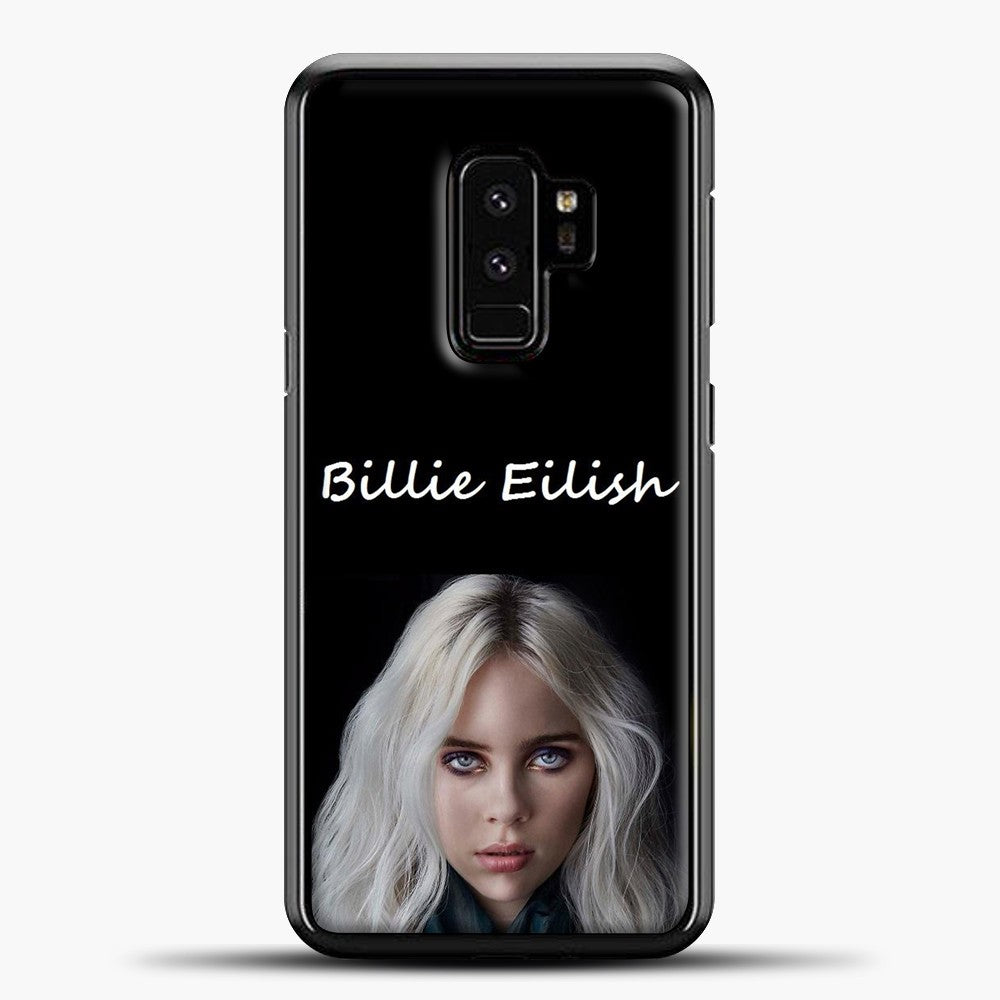Billie Eilish Creepy Wallpaper Samsung Galaxy S9 Plus Case, Black Plastic Case | casedilegna.com