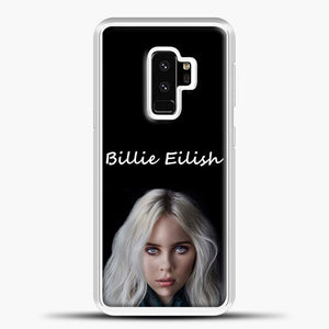 Billie Eilish Creepy Wallpaper Samsung Galaxy S9 Plus Case, White Plastic Case | casedilegna.com
