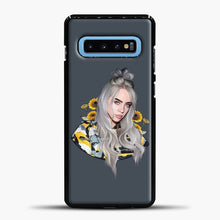 Load image into Gallery viewer, Billie Eilish Flower Sun Samsung Galaxy S10 Case, Black Plastic Case | casedilegna.com