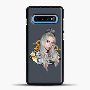 Billie Eilish Flower Sun Samsung Galaxy S10 Case, Black Plastic Case | casedilegna.com