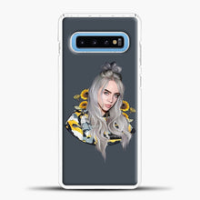 Load image into Gallery viewer, Billie Eilish Flower Sun Samsung Galaxy S10 Case, White Plastic Case | casedilegna.com