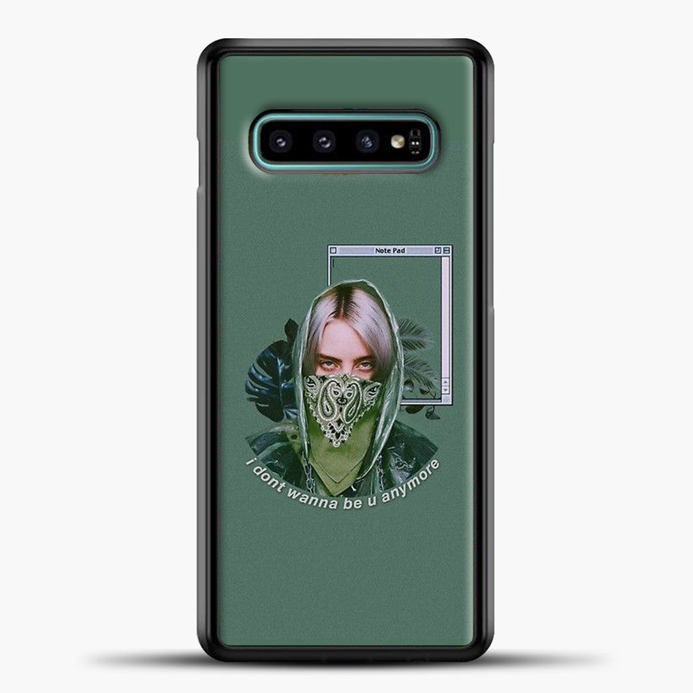 Billie Eilish Green Lyrics Samsung Galaxy S10e Case, Black Plastic Case | casedilegna.com