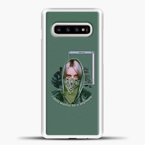 Billie Eilish Green Lyrics Samsung Galaxy S10e Case, White Plastic Case | casedilegna.com