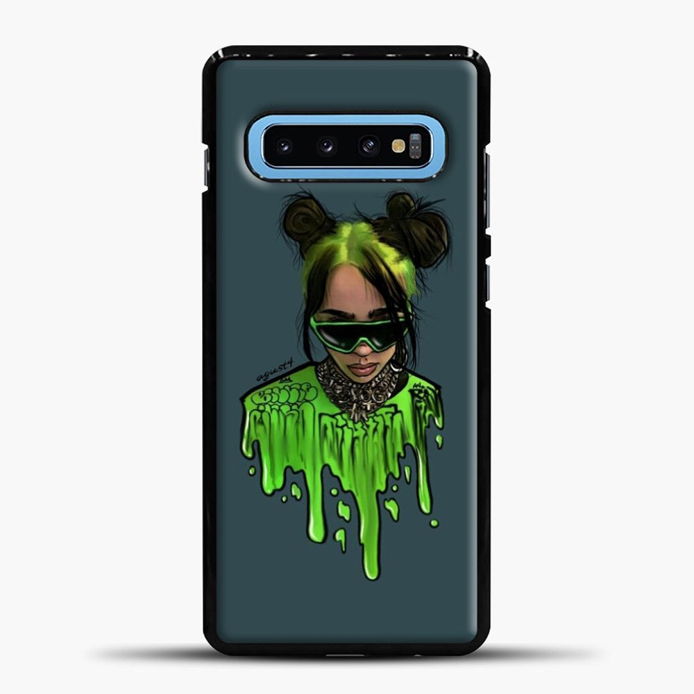 Billie Eilish Green Slime Samsung Galaxy S10 Case, Black Plastic Case | casedilegna.com