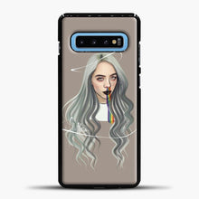 Load image into Gallery viewer, Billie Eilish Grey Hair Samsung Galaxy S10 Case, Black Plastic Case | casedilegna.com