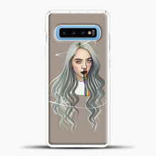 Load image into Gallery viewer, Billie Eilish Grey Hair Samsung Galaxy S10 Case, White Plastic Case | casedilegna.com