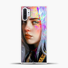 Load image into Gallery viewer, Billie Eilish Hologram Art Samsung Galaxy Note 10 Plus Case, White Plastic Case | casedilegna.com