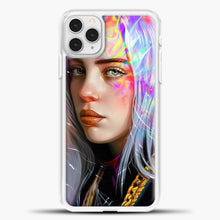 Load image into Gallery viewer, Billie Eilish Hologram Art iPhone 11 Pro Case, White Plastic Case | casedilegna.com
