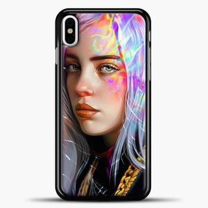 Billie Eilish Hologram Art iPhone X Case, Black Plastic Case | casedilegna.com