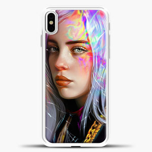 Billie Eilish Hologram Art iPhone X Case, White Plastic Case | casedilegna.com