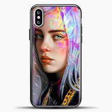Load image into Gallery viewer, Billie Eilish Hologram Art iPhone XS Case, Black Plastic Case | casedilegna.com