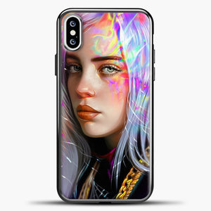 Billie Eilish Hologram Art iPhone XS Case, Black Plastic Case | casedilegna.com
