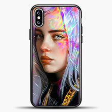 Load image into Gallery viewer, Billie Eilish Hologram Art iPhone XS Max Case, Black Plastic Case | casedilegna.com