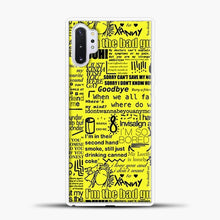 Load image into Gallery viewer, Billie Eilish IM The Bad Guy Yellow Samsung Galaxy Note 10 Plus Case, White Plastic Case | casedilegna.com