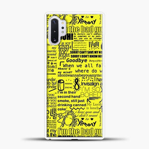 Billie Eilish IM The Bad Guy Yellow Samsung Galaxy Note 10 Plus Case, White Plastic Case | casedilegna.com