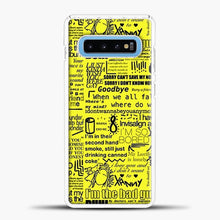 Load image into Gallery viewer, Billie Eilish IM The Bad Guy Yellow Samsung Galaxy S10 Case, White Plastic Case | casedilegna.com