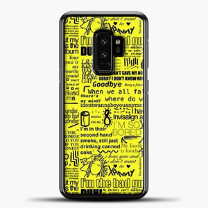 Billie Eilish IM The Bad Guy Yellow Samsung Galaxy S9 Plus Case, Black Plastic Case | casedilegna.com