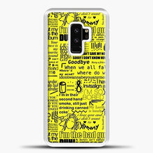 Load image into Gallery viewer, Billie Eilish IM The Bad Guy Yellow Samsung Galaxy S9 Plus Case, White Plastic Case | casedilegna.com