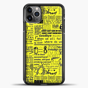 Billie Eilish IM The Bad Guy Yellow iPhone 11 Pro Max Case, Black Plastic Case | casedilegna.com