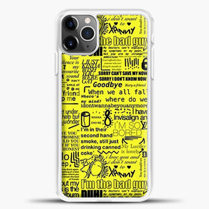Billie Eilish IM The Bad Guy Yellow iPhone 11 Pro Max Case, White Plastic Case | casedilegna.com