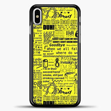 Load image into Gallery viewer, Billie Eilish IM The Bad Guy Yellow iPhone X Case, Black Plastic Case | casedilegna.com