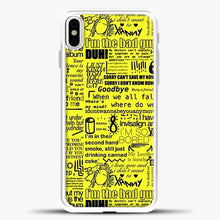 Load image into Gallery viewer, Billie Eilish IM The Bad Guy Yellow iPhone X Case, White Plastic Case | casedilegna.com