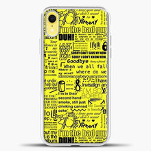 Load image into Gallery viewer, Billie Eilish IM The Bad Guy Yellow iPhone XR Case, White Plastic Case | casedilegna.com